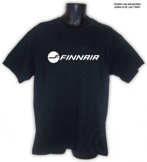 Finnair  Finland Airlines BLACK T-Shirt S, M, L, XL, 2XL