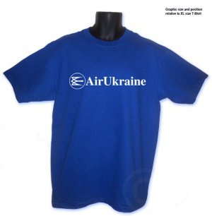 Air Ukraine Airlines Aviation T-Shirt S, M, L, XL ~ FREE SHIPPING