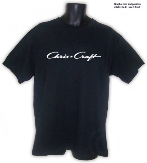 Chris Craft T-shirt Black S, M, L, XL, 2XL