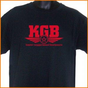 KGB Russian USSR T-Shirt  2XL ~  FREE SHIPPING
