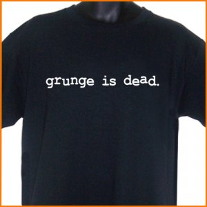 GRUNGE IS DEAD Cobain T-Shirt S, M, L, XL ~  FREE SHIPPING