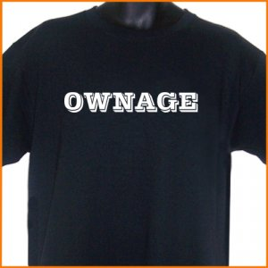 OWNAGE  Gamer T-Shirt  2XL ~ FREE SHIPPING