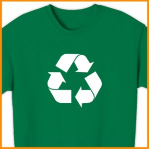 RECYCLE SYMBOL  T-Shirt  GREEN EARTH ENVIRONMENT S, M, L, XL