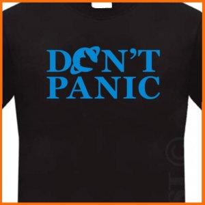 Don't Panic Hitchhiker's Guide T-Shirt Tee S, M, L, XL, 2XL