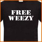 FREE WEEZY LIL WAYNE T-Shirt  Rap Hip Hop tee S -2XL