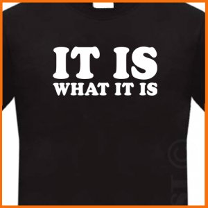 IT IS WHAT IT IS T-Shirt Funny tee S, M, L, XL