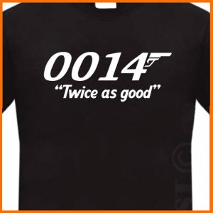 0014 Twice as good AGENT T-Shirt Black tee S -2XL