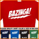 Bazinga The Big Bang Theory T-Shirt  7.95 Sheldon Tee S - XL
