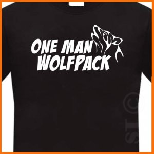 One Man Wolf Pack Hangover Wolfpack T-shirt Black S -XL