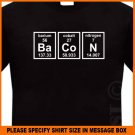 BACON Periodic Table Science Geek Chemistry T-shirt Black S -XL