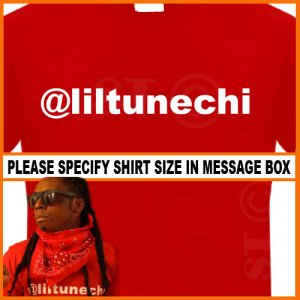 Liltunechi Lil Wayne T-shirt Twitter Young Money Tee RED S -XL