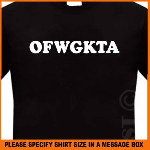 OFWGKTA T-Shirt Odd Future Wolf Gang Free Earl S -XL