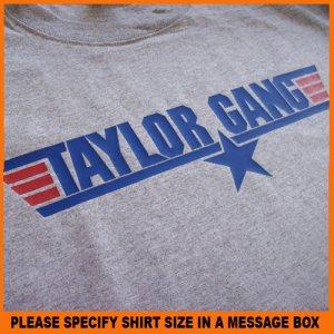 Taylor Paper Star Gang Air Force Wiz Khalifa T-Shirt S -XL