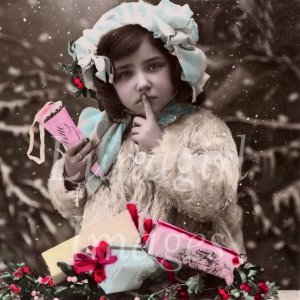 VINTAGE HOLIDAY PHOTOS on CD - Christmas New Years Victorian Edwardian postcards