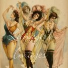 BURLESQUE VAUDEVILLE comedies theater posters on CD - over 700 Victorian vintage images