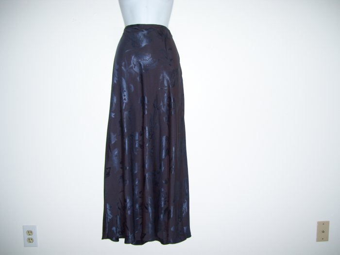 $128.00 Charcoal Silk Skirt, Banana Republic, 12, NWT!