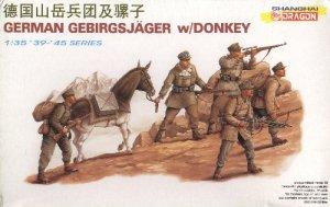 GERMAN GEBIRGSJAGER with DONKEY - 1/35 DML Dragon 6078