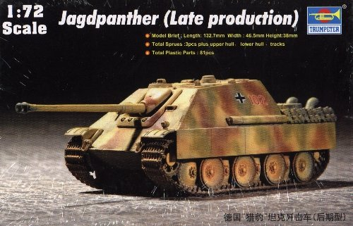JAGDPANTHER LATE PRODUCTION - 1/72 Trumpeter 7272
