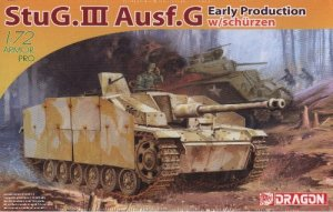 StuG III AUSF G EARLY PRODUCTION STURMGESCHUTZ with SCHURZEN - 1/72 DML Dragon 7354
