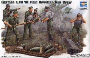 GERMAN s.FH 18 FIELD HOWITZER GUN CREW - 1/35 Trumpeter 425