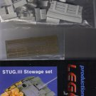 STURMGESCHUTZ StuG III Stowage Set - 1/48 Legend Productions LF4102