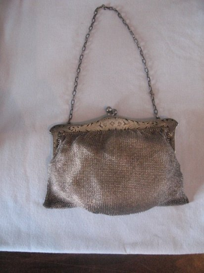 STERLING SILVER PURSE MARKED SO PRETTY DETAIED