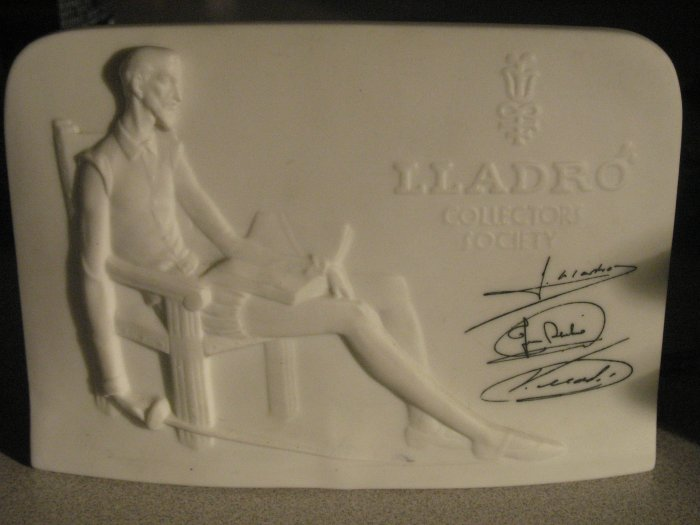 RARE LLADRO COLLECTORS SOCIETY SIGNED BY 3 ARTEST