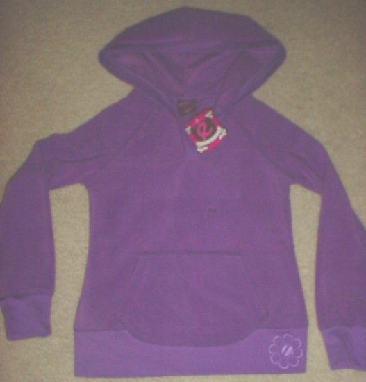 New GIRLS Ellemenno FLEECE HOODIE SWEATSHIRT Top SIZE 14 PURPLE