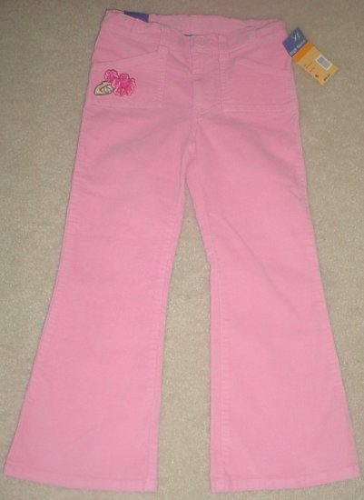 NWT GIRLS High Sierra STRETCH PANTS Bootleg SIZE 6 PINK Velvet Finish