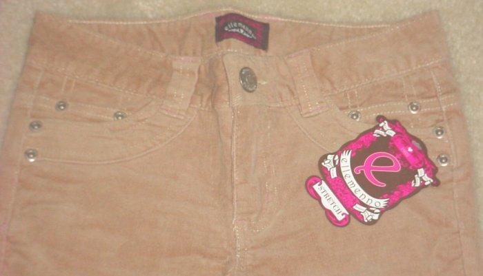 Girls STRETCH CORDUROY PANTS Bootleg SIZE 8 CAMEL TAN