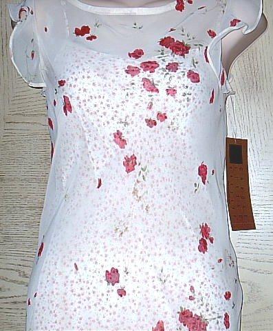 CAROLE LITTLE DRESS  2 Piece Slip Sundress SIZE 4 Rose Print