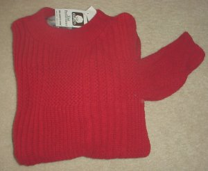 New MENS Weekends CREW NECK SWEATER 100% Cotton MEDIUM Wine Red