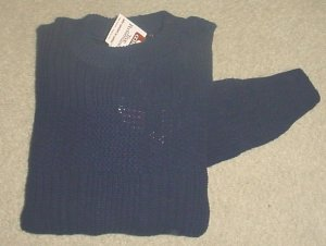 NWT MENS SWEATER Weekends Crew Neck 100% Cotton XL NAVY BLUE
