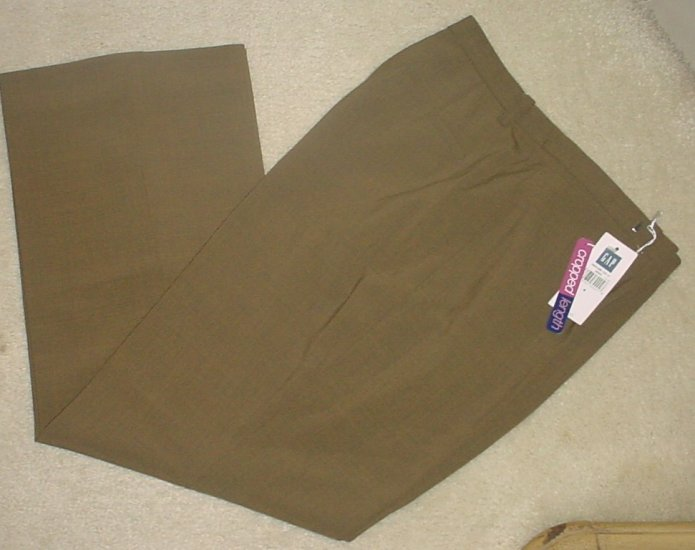 NEW Ladies GAP CROPPED PANTS Stretch Capri Slacks SIZE 4 EARTH BROWN