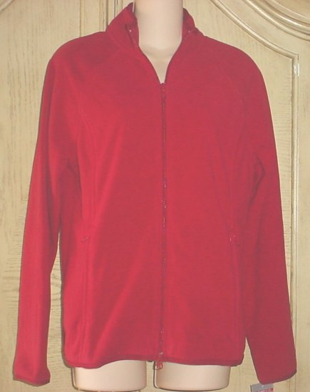 Ladies CHEETAH FLEECE JACKET Activewear LARGE 12/14 Red