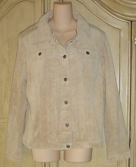 New WOMENS SUEDE JACKET For Joseph COAT XL 16/18 TAN Washable