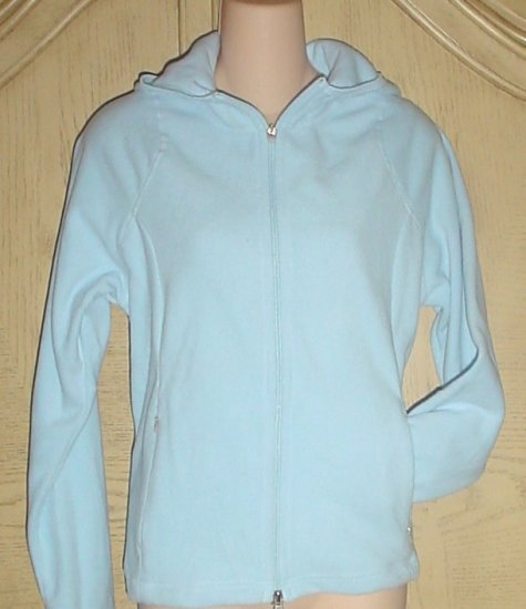 Ladies PROSPIRIT FLEECE HOODIE Athletic Jacket BLUE Size Large
