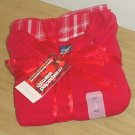 NEW Ladies PAJAMA SET 3 Piece LARGE Pants+Shorts+Top RED Flannel Gift