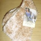 LADIES St Johns Bay PLUSH SLIPPER SOCKS One Size CHAMPAGNE BEIGE