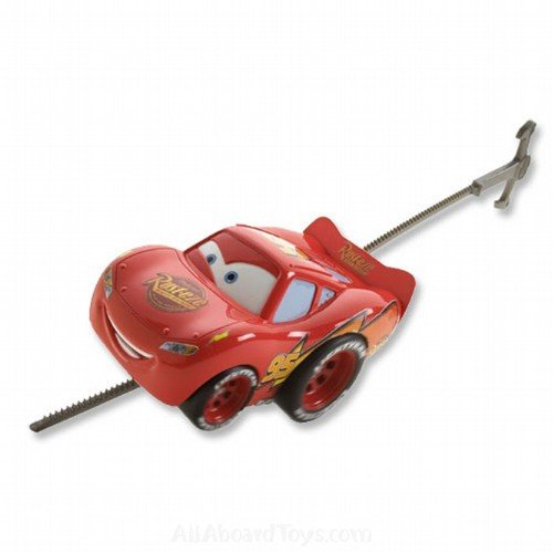 NEW Disney/Pixar CARS LIGHTENING MCQUEEN RIP STICK RACER Toy Vehicle