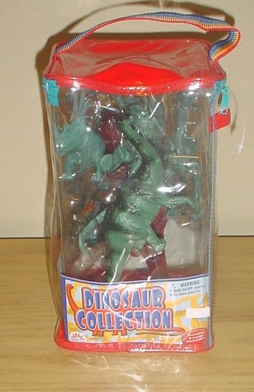 NEW Funrise Toys DINOSAUR COLLECTION 8 Large Figures in CARRY CASE