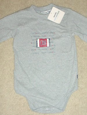 NEW Canyon River INFANT TOP Snap Bottom One Piece 24 Months 100% COTTON Gray