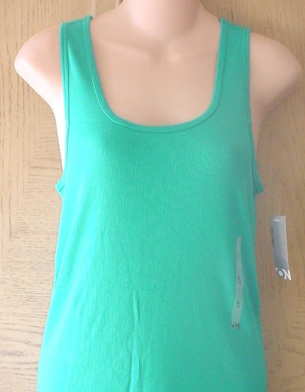 NWT Ladies OLD NAVY TANK TOP Long Layering Tee TURQUOISE BLUE XL 16/14