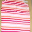 NEW Girls OLD NAVY TANK TOP T-Shirt LARGE 10/12  PINK STRIPE Cotton Tee