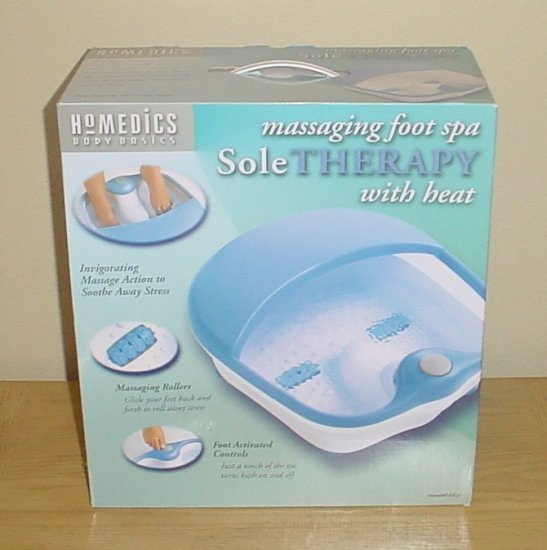 New HOMEDICS SOLE THERAPY MASSAGING FOOT SPA with HEAT