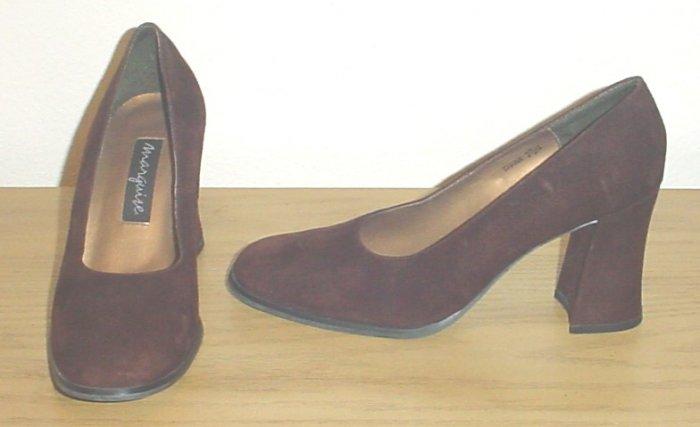 NEW LADIES Marguise CLASSIC SUEDE PUMPS Heels 7.5M BROWN