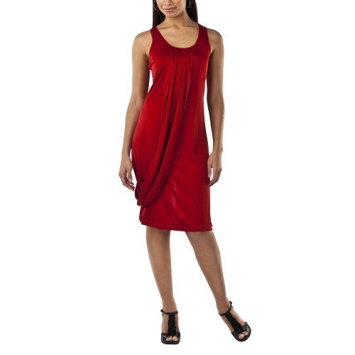JEAN PAUL GAULTIER Target TANK DRESS Large LIPSTICK RED Jersey