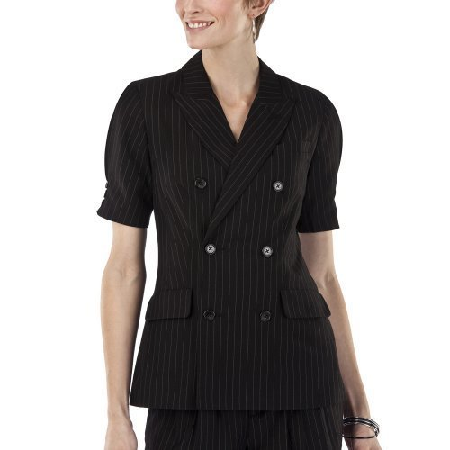 NWT JEAN PAUL GAULTIER  BLAZER Lined JACKET Medium BLACK Pinstripe