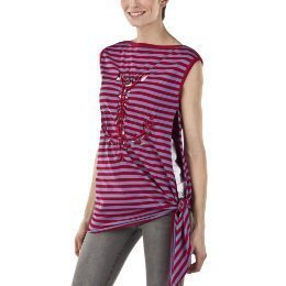 NWT JEAN PAUL GAULTIER STRIPED ANCHOR TOP XL Red/Gray