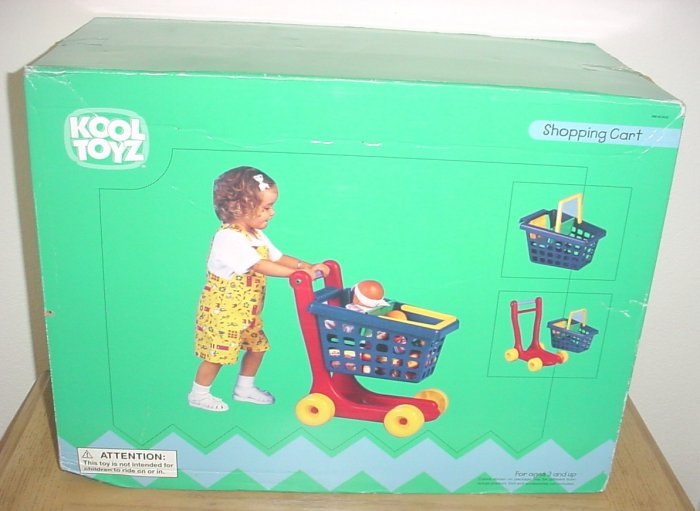 NEW Kool Toyz PRETEND PLAY SHOPPING CART w/Removable Carry Basket